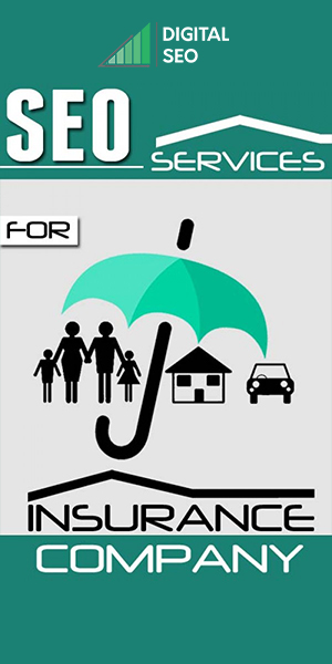An image showing a family, house and car covered under an umbrella representing insurance cover and SEO services for insurance companies.